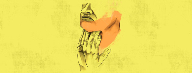a person uses their fingers to massage their bulbar muscles